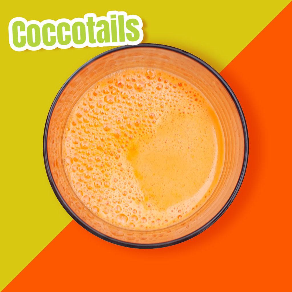 Centrifugato all'arancia, carota e zenzero