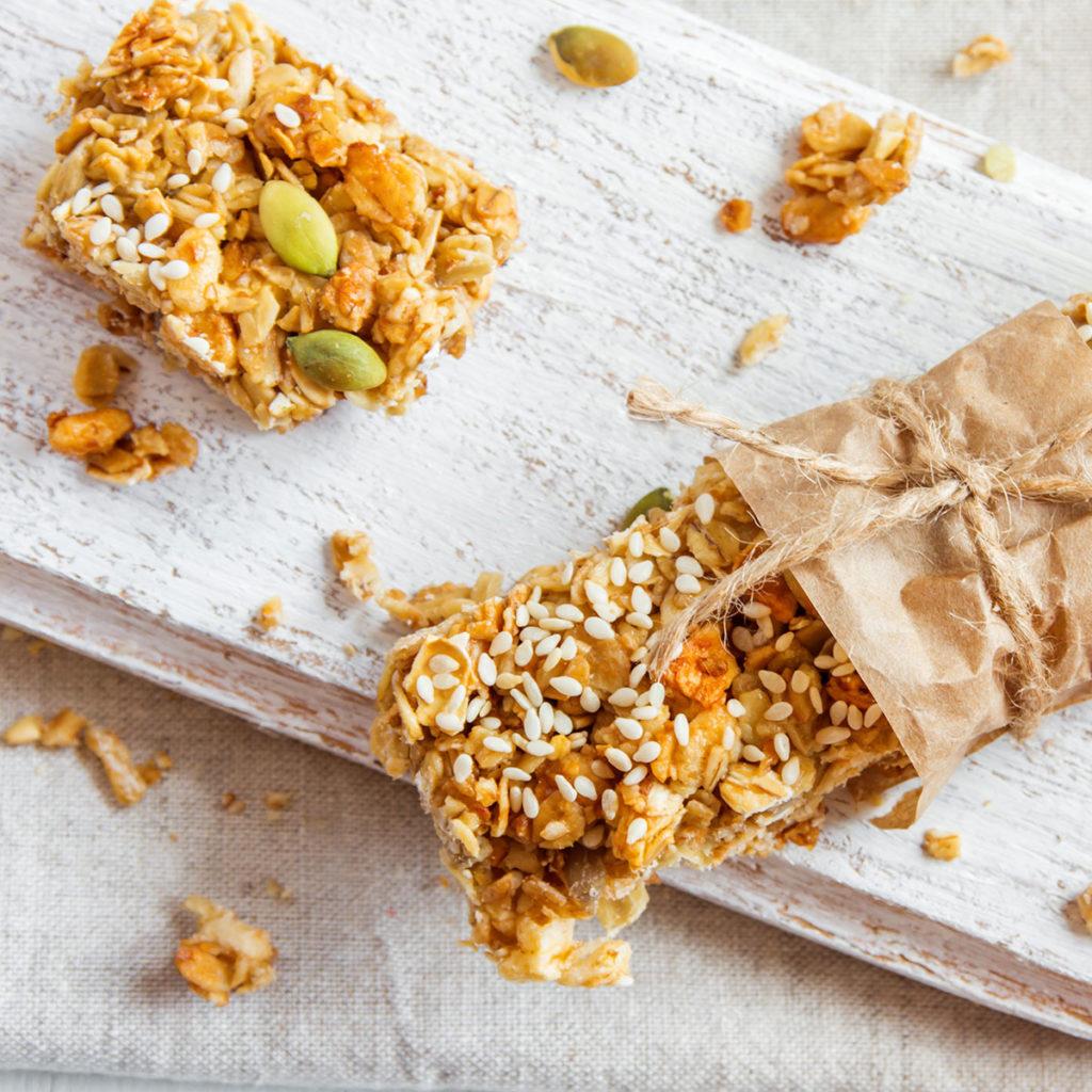 Snack con semi e acqua di cocco